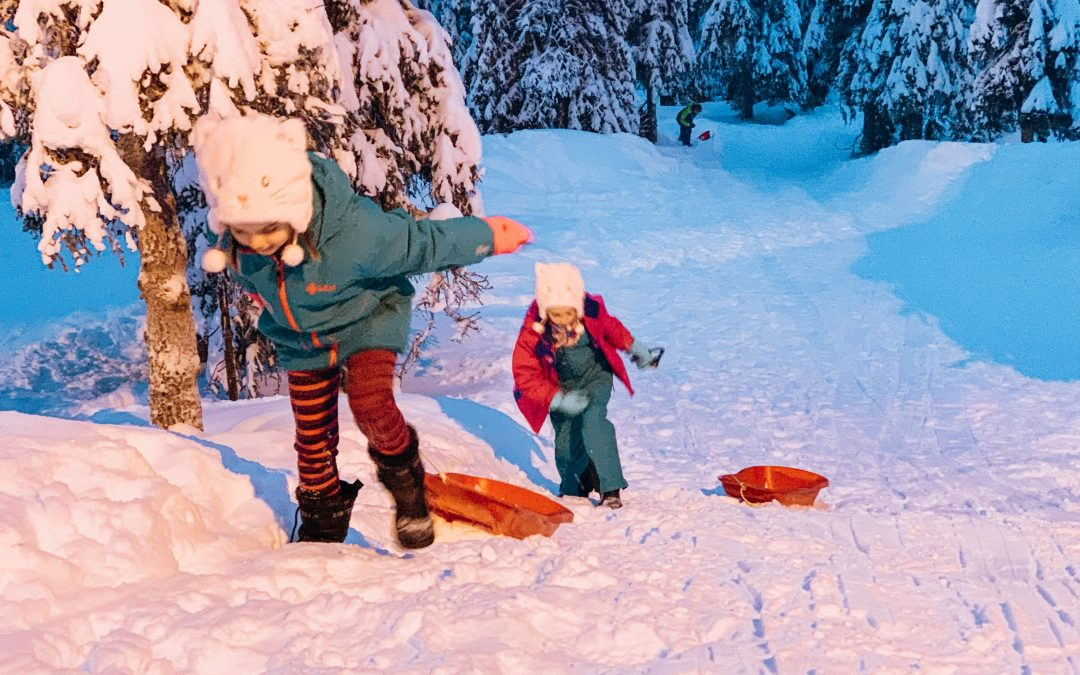 Santa and Skiing in Lapland, Finland